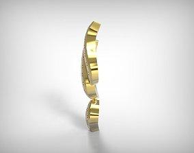 Golden Hanging Pendant Jewelry 3D print model