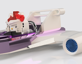 3D printable model HELLO KITTY SKY GLIDER