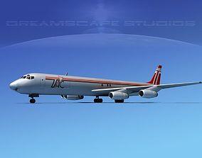 Douglas DC-8-63F TAC Cargo 3D model