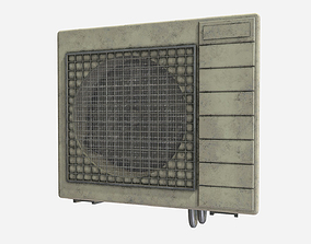 3D model Low Poly PBR Aircon