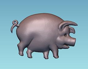 3D print model Pig panno