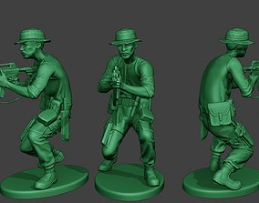 3D printable model Modern Jungle Soldier Shoot crouched3