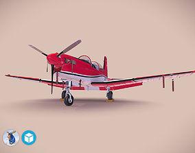 Pilatus PC-7 Mk-I SAFRedWhite 3D model