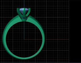 solitaire rings tiffany 3D print model