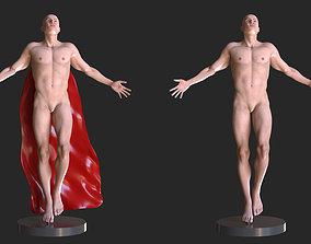 Superman Pose Human sculpture 3D print model
