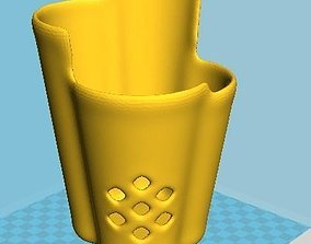Pencil pen holder vase with rombus 3D printable model 1