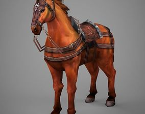 3D model Lowpoly Medieval Horse