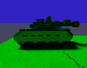Voxel tank 3D model