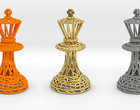 pawn 3D print model King Chess piece