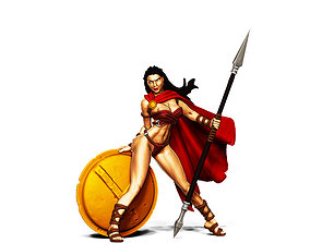 Spartan woman 35mm scale - Leda valkyrie 3D print model