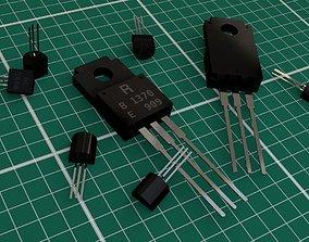 Transistors 3D model