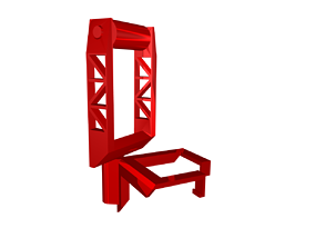 3D print model Makerbot Replicator filament spool holder