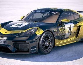 3D Porsche 718 Cayman GT4 Clubsport 2019