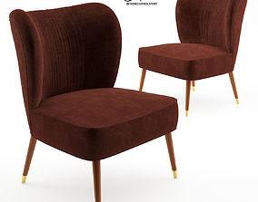 Visconti Twin armchair - Ottiu 3D model