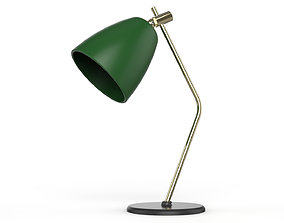 Table Lamp Green and Gold 3D