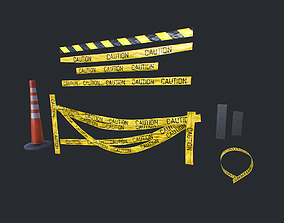 3D model realtime Caution Tape