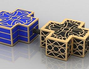 3D print model small crosses with enamel
