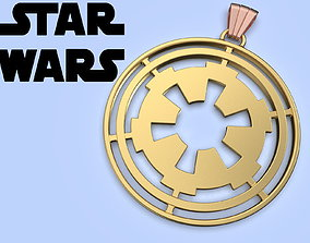 Star Wars Galactic empire Medallion cosplay 3d model 1