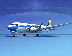 Douglas DC-6 Lufthansa 3D model