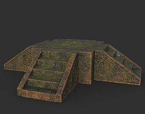 3D asset Low poly Ancient Dragon Temple Element 11 -