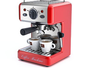 cafe 3D model Coffee Machine