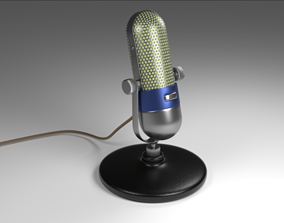 Microphone 3D asset realtime