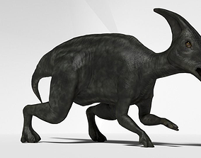 rigged 3DParasaurolophus