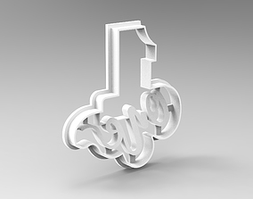 3D print model numbers cookie cutters