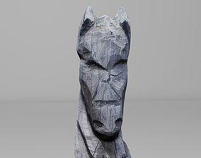 3D model wood Horse patience pole