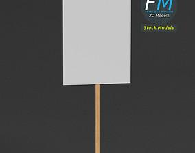 3D model Handheld protest sign