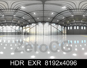 3D asset HDRI - Airplane Hangar Interior 11 - 8192x4096