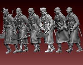 3D print model ww2 German soldiers