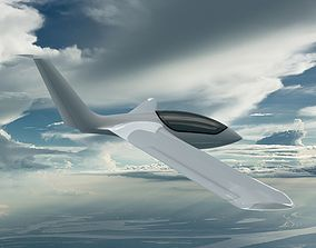 3D Genesis 2 flying wing sailplane forward-swept-wing