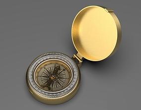 3D model captain Gold Compass