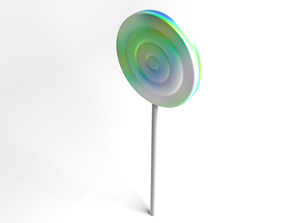 Lollipop Rainbow Swirl 3D