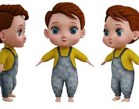 Cute Baby Boy character 3D model