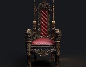medieval chair 3D
