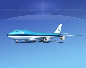 Boeing 747-100 Royal Dutch KLM 3D model