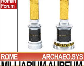 3D Roman Imperial Milliarium Aureum
