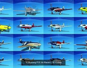 18 Mustang P-51 Air Racers 3D model