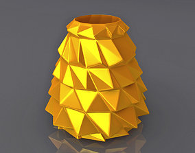 Wavy Triangulation Vase Geometric Shape 3D Printing Model