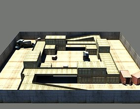 Map for Counter Strike 3D asset low-poly