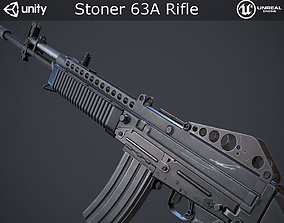 3D model realtime Stoner 63A Rifle
