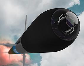 Missile Thales 70mm 275 Induction Laser Guided Rocket 3D