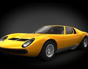 3D asset VR / AR ready Lamborghini Miura
