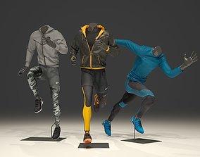 3D model Man mannequin Nike pack 3