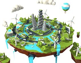 The city of the future 3D model