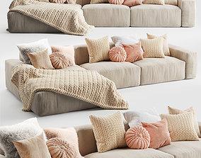 Elise Corner Sofa Chaise 3D