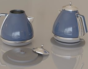 Contemporary colourful kettle1-blue 3D asset low-poly