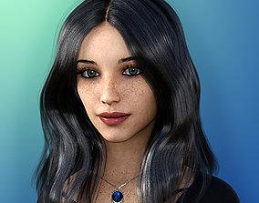 3D model animated Beck for Genesis 8 Female